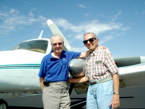 Aldo Galvanoni (left) and Vern Nelson were instrumental in forming and developing the Sun Lakes Aero Club.