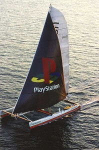 Steve Fossett had PlayStation (later renamed Cheyenne) built to attack the major sailing records. He twice set the prestigious 24 Hour Record of Sailing and set a transatlantic record with the large catamaran.
