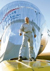 After five previous attempts, Steve Fossett successfully completed the first round-the-world solo balloon flight in 2002. He left Northam, Australia, on June 19, and landed in Queensland, Australia, on July 4.