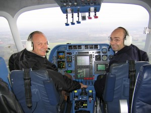Steve Fossett is one of only 17 Zeppelin captains in the world. In October 2004, he set an absolute world speed record for airships of 71.5 mph, in a Zeppelin NT. His copilot was Hans-Paul Stroehle (right).