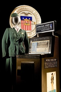 The America by Air exhibition will feature a sweeping array of artifacts to tell the story of passenger air travel in the United States. Passengers could buy $7,500 worth of life insurance from a vending machine for 25 cents.