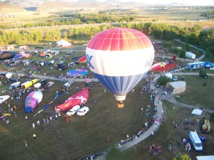 Seventy hot air balloons took to the skies over Chatfield State Park during the Rocky Mountain Balloon Festival, presented by RE/MAX.