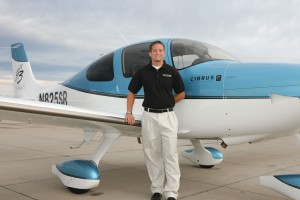 Justin Steinke gave a tour of his company's new Cirrus SR22.