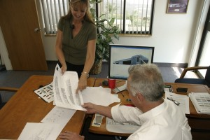 Sue Kelly, EagleSpan's office manager, helps Jerry Curtis run business smoothly at headquarters.