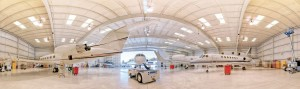 Beautifully constructed, this is one of many hangars owned by Castle & Cooke Aviation at Van Nuys Airport.
