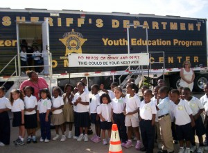 The Golden Heart Foundation collaborates with local fire and police authorities throughout the Dallas-Fort Worth region to extend its message of fire, drug and crime prevention to children like these, pictured at a June 2006 event.