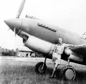 Tex Hill claimed P-40 #48 as his, after soloing in the aircraft at Kyedaw Airfield, Toungoo, in the fall of 1941. When this picture was taken, shark's teeth hadn't yet been painted on #48.