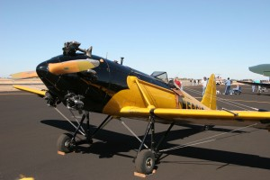 A fully restored vintage Ryan Sport Trainer from the 1940s era was on display, showing how far modern aircraft design has come over the last 60 years.