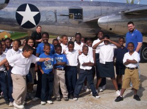 The Reach for the Stars program gives children the chance to sit in real airplanes and talk to pilots and inspirational heroes like the Tuskegee Airmen.