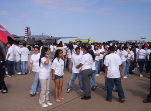 The Golden Heart Foundation's many events bring children into close contact with pilots and their aircraft, giving them aviation experiences that may change their lives.