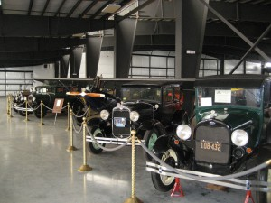 Rows of antique autos at the museum draw those who want to see examples of early ground transportation in America.