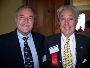 Jerry Lips (left) catches up with Peter Paul Luce, Colorado Aviation Historical Society treasurer.