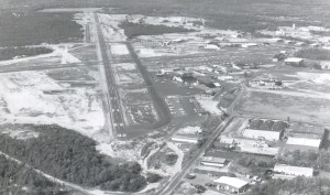 This view shows the 7,300-foot Runway 14-32 at Monmouth Executive Airport.