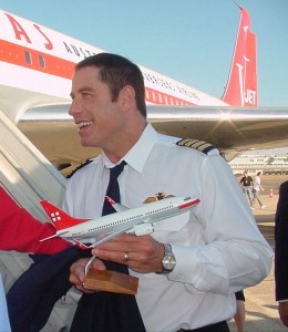 "On his stop at PrivatAir Le Bourget, during his ""Spirit of Friendship Tour,"" John Travolta was given a model of a PrivatAir BBJ."