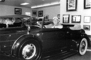 Like his father before him, Bob Pond has a passion for automobiles. His car collection includes this 1934 Packard Victoria.