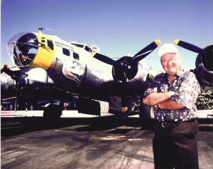 One of 12 B-17s still flying, Miss Angela was used as a fire bomber during the 1960s. Bob Pond restored the plane, gave it the marks of the 34th Bomber Group, 8th Air Force, and named it after his granddaughter.