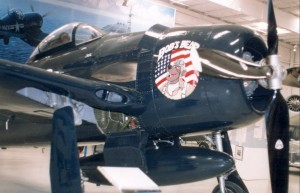 This Grumman F8F Bearcat is one in a line of Grumman cats collected by Bob Pond.