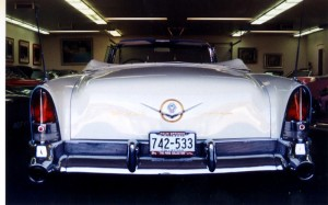 Bob Pond says he's been an automobile collector for so long that he can't even remember why he started—other than the fact that he loves to drive them. His collection includes this Packard Caribbean convertible.