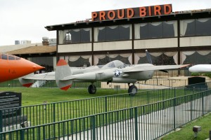 The Proud Bird Restaurant at Los Angeles International Airport features dozens of replica aircraft created by David Tallichet's Military Aircraft Restoration Company.