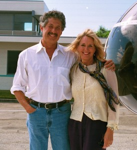 Inspired by her late husband, Ed Cesar, Barbara Cesar became one of the Van Nuys Airport business community's most outspoken and tenacious supporters. The couple is shown in 2000.