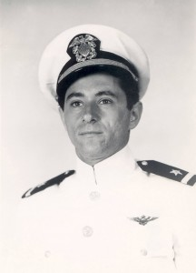 Fred Blechman received his ensign commission and Navy fighter pilot wings of gold on Aug. 23, 1950, at Pensacola.