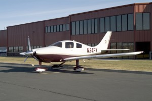 Cessna delivered this cranberry-gold painted 350 to a customer in late December. The plane is available in 20 different color schemes.