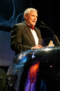 Jerry Lips acknowledges the Living Legends of Aviation during the 5th annual Living Legends of Aviation award ceremony at the Beverly Hilton.