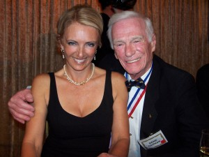 Patty Wagstaff with Gene Cernan during the 4th annual Living Legends of Aviation.
