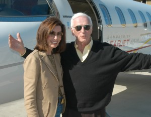 Gene Cernan and wife Jan arrive at Clay Lacy Aviation at Van Nuys Airport for the 4th annual Living Legends of  Aviation event.