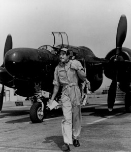 John Myers test flew the P-61 Black Widow. The first squadrons of night fighters were later disassembled and sent by ship to the South Pacific. There, Myers tested them again and checked out pilots.
