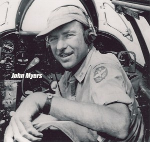 A Harvard Law School graduate, John Myers went to work at his father's firm, O'Melveny & Myers. He left the firm later to take a job in Lockheed's legal dept., leading to test flight work on most of the aircraft built during WWII by Lockheed and Northrop.