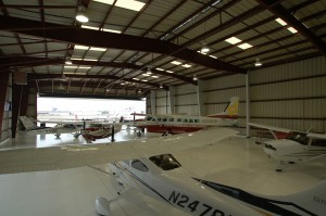 The showroom at Tom's aircraft stays stocked with Cessna's finest airplanes, and the dealer has five to 10 aircraft on site at any one time for demonstration flights.