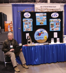 John Maxfield mans the EAA Chapter 113 booth.