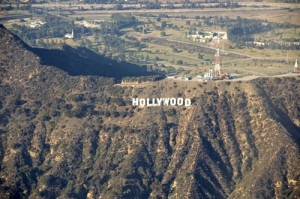 The iconic Hollywood sign allows no doubt about our destination.