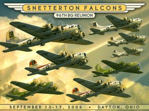 Joe Jones made this poster for a reunion of the 96th Bomb Group.