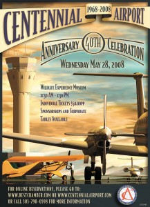 Joe Jones produced this poster for Centennial Airport's 40th anniversary celebration.
