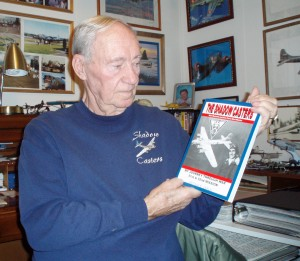 """When 1,000 B-17s fly over a country, they make a lot of shadows,"" said former waist gunner Art Unruh, relating why he named his book of war experiences ""The Shadow Casters."""