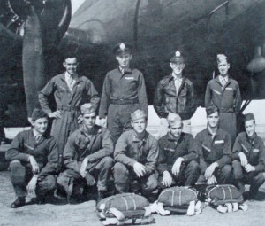 Prior to one of his 50 bombing missions from Foggia, Italy, SSgt. Art Unruh (front row, second from left) poses with the 10 crewmen he became close to during World War II. He's reconnected with three of the men in recent years.