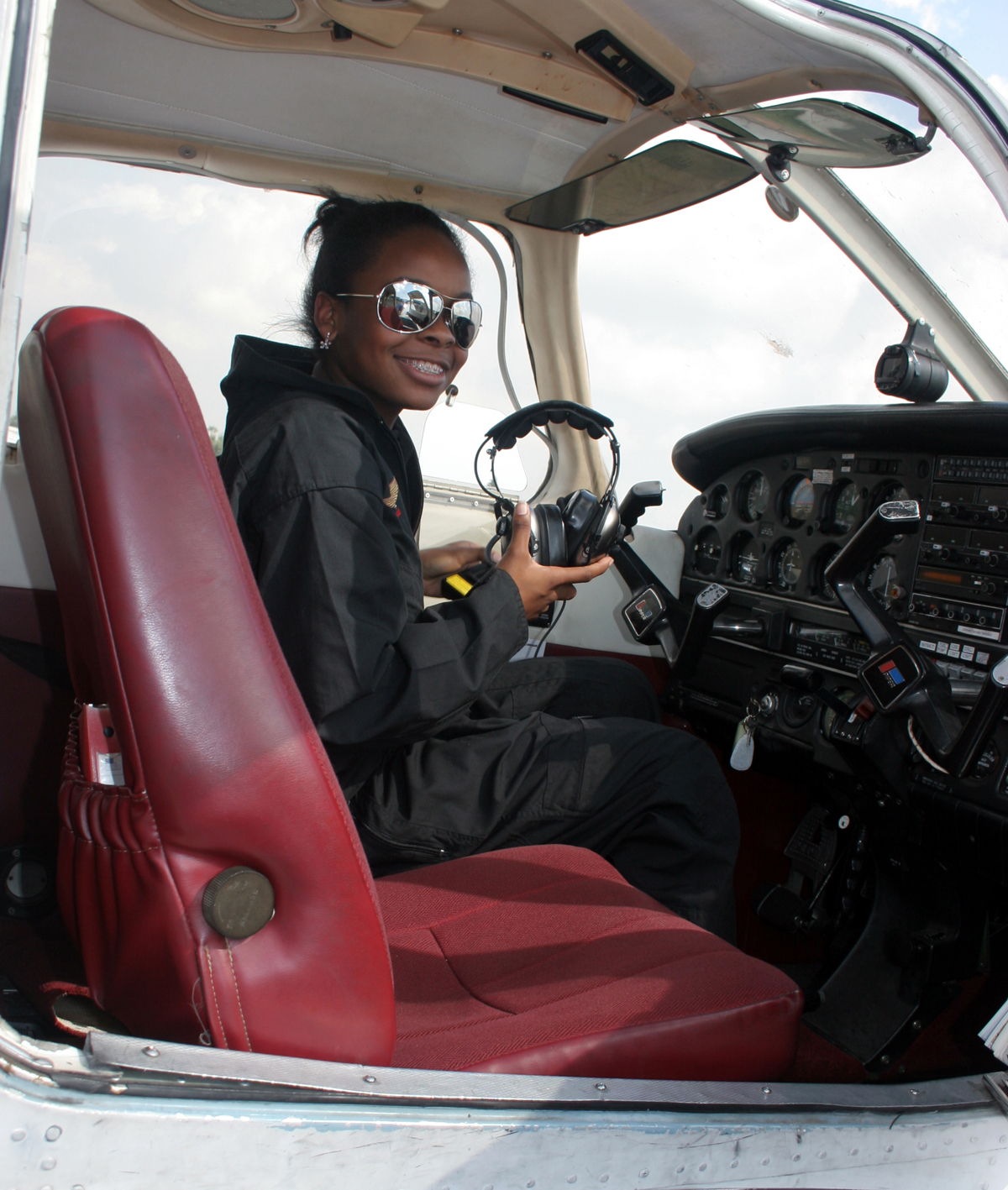 Kelly Anyadiki became the youngest African-American female to solo in four different aircraft on the same day.