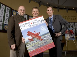 """The Dayton Air Show: A Photographic Celebration"" is a collaboration between Ty Greenlees (right) and Timothy Gaffney (left), who have been air show fans since childhood. Sean Tucker (center) wrote the foreword."