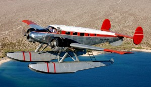 The Twin Beech is an awesome sight while flying over Lake Mohave.