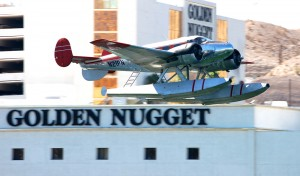 The twin-engine seaplane flying past the Laughlin casinos has become a common sight.