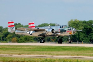 "The CAF owns two Mitchell B-25 bombers. The name and nose art of Panchito was inspired by the Mexican rooster from the 1945 Disney animated musical, ""The Three Cabarellos."""