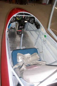This picture shows the instrument panel of a German-made glider.
