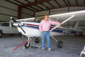 This Cessna 152, modified with a 180-hp engine, is Burt Compton's favorite tow plane.