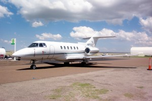 A Raytheon Hawker 800XP brought passengers from Ohio to tour Marfa's art exhibits.