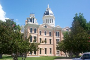 The beautiful Presidio County Courthouse graces Marfa, Texas.