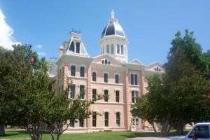 The beautiful Presidio County Courthouse graces Marfa, Texas.
