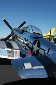 Daddy's Girl, a locally owned P-51D Mustang, shows off its mirror finish.