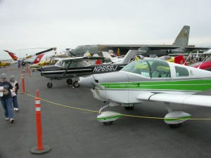 Paine Field's annual General Aviation Day, presented by the Washington Pilots Association, displayed dozens of warbirds and general aviation aircraft at its 2007 event.